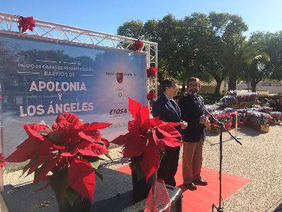 Comienzan las obras de renovación de los barrios de Los Ángeles y Apolonia de Lorca que fomentarán la movilidad y la accesibilidad