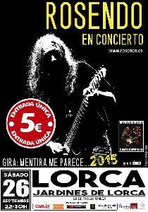 Santi Campillo acompañará a Rosendo en su concierto de este sábado por la noche en la Feria de Lorca