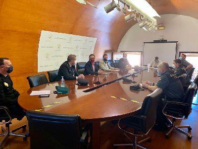 El concejal de Seguridad Ciudadana destaca la buena coordinación entre los Cuerpos y Fuerzas de Seguridad en la pandemia