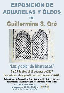 El Huerto Ruano acogerá la exposición de pintura ''Luz y color de Marruecos'' de la pintora Guillermina Sánchez Oró