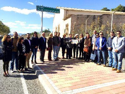 La Avenida Alcalde José López Fuentes rinde homenaje al primer alcalde de la Lorca democrática