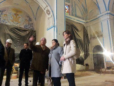 Las obras de recuperación de la iglesia de San Diego prevén aligerar el peso de la nave central en 80 toneladas para mejorar la reacción del templo en caso de terremoto