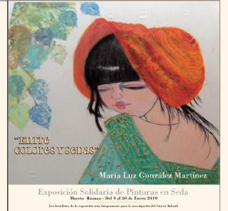 La exposición de pinturas en sedas ''Entre colores y sedas'' de María Luz González podrá visitarse en el Huerto Ruano entre el 9 y el 30 de enero
