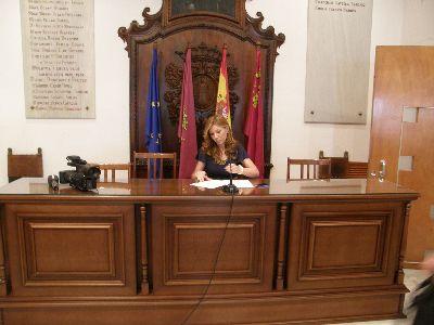 El Alcalde de Lorca y los concejales se quitarán la paga extra de Navidad y reducirán la parte proporcional a los no liberados