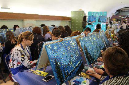 Lorca Taller del Tiempo organiza para el domingo la actividad ''Salir con arte en el Castillo de Lorca'' en que se pintará la obra ''La chica del paraguas'' de Afremov