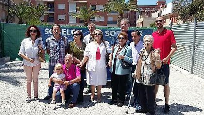 El inicio de la reconstrucci�n del edificio ''El Porche'' impulsa la reedificaci�n de viviendas derribadas por los terremotos en el barrio Alfonso X