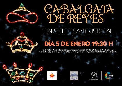 El Barrio de San Cristóbal volverá a acoger mañana la tradicional Cabalgata de Reyes que comenzará a partir de las 19:30 horas en la calle Juan Mínguez
