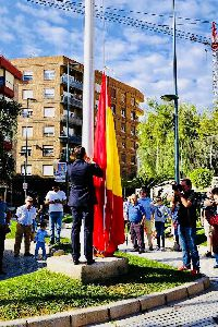El Ayuntamiento invita a los lorquinos a acudir el viernes a la Plaza de Colón para participar en el acto de exaltación a la bandera de España con motivo del Día de la Hispanidad