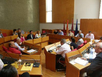 Balance del pleno ordinario del Ayuntamiento de Lorca correspondiente al mes de mayo de 2012
