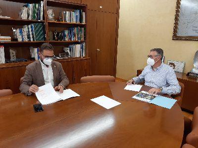 El alcalde de Lorca mantiene una reunión de trabajo con el presidente de la Confederación Hidrográfica del Segura