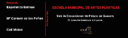 Tres artistas de Lorca mostraran sus pinturas en una exposición  que se inaugura el próximo viernes en el Palacio de Guevara