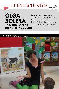 La actriz Olga Solera inaugura este sábado a las 12 horas los ''Sábados de Cuento'' de la Biblioteca Infantil y Juvenil