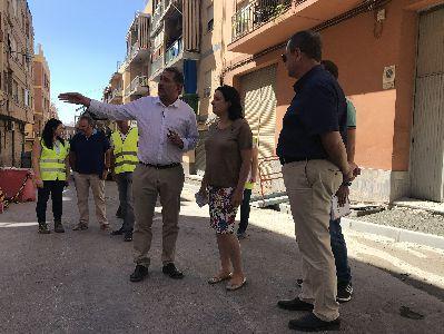 Las obras de renovación urbana de barrio de Los Ángeles – Apolonia avanzan a buen ritmo, habiéndose ejecutado ya el 65% de los trabajos