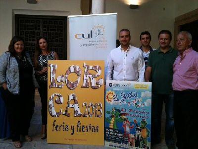 La Feria Grande de Lorca, que se anunciará con un cartel de Carmen Giménez, incluirá la actuación de ''La Pandilla de Drilo'' para los más pequeños el 24 de septiembre