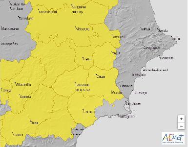 La AEMET advierte de altas temperaturas que podrían superar los 38 y 39 grados este viernes y sábado en Lorca