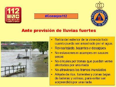El Alcalde ordena el establecimiento de un dispositivo especial que permanezca alerta ante el aviso de fuertes lluvias trasladado por la Agencia Estatal de Meteorología