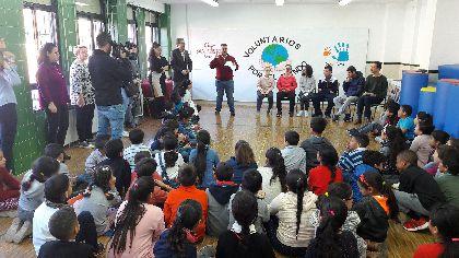 El Colegio San Cristóbal celebra el Día del Voluntariado realizando numerosas actividades solidarias con Down Lorca y Alzheimer Lorca