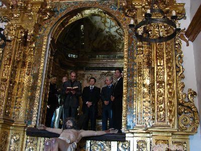 El Alcalde de Lorca, el Director General de Bienes Culturales y el Presidente del Paso Morado inauguran la Ermita Mayor del Calvario