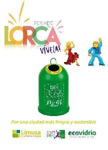 Limusa y el Consejo de la Juventud promueven una campaña para fomentar el reciclaje entre los jóvenes durante la Feria de Lorca