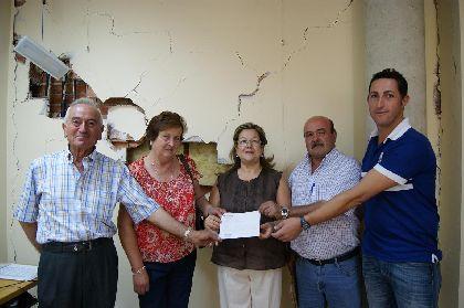 Las Asociaciones de Vecinos de Zarzalicos, Los Cegarras-Nogalte y Los Morotes donan 7.760 euros recaudados en su gala solidaria por los afectados por los seísmos