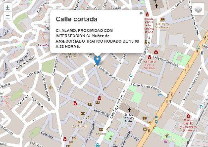 Desde mañana, 5 de febrero, y hasta el próximo miércoles se producirán cortes de tráfico en calle Álamo, en su intersección con Núñez de Arce, debido a mejoras en la red de pluviales