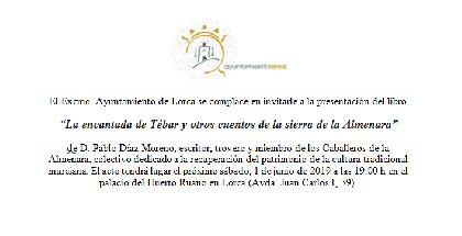 Huerto Ruano acoge el sábado la presentación del libro ''La encantada de Tébar y otros cuentos de la Sierra de la Almenara'', de Pablo Díaz Moreno