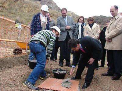 Sotoca y Jódar colocan la primera piedra del nuevo Instituto de Secundaria número seis de la ciudad de Lorca