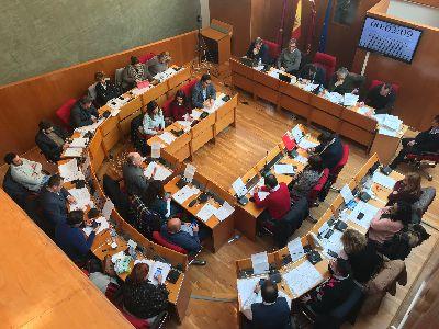 Balance de votaciones del Pleno Ordinario del Ayuntamiento de Lorca correspondiente al mes de enero