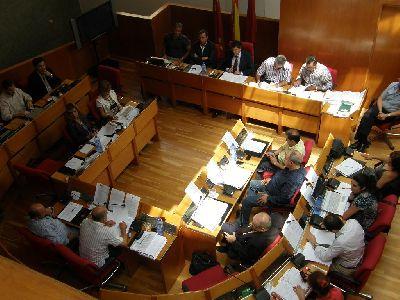 Aprobada, sólo con los votos del PP, la bajada del sueldo del Alcalde de Lorca y los concejales, así como la reducción de la asignación y el personal de los grupos políticos
