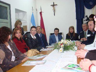 El Alcalde de Lorca, Francisco Jódar, y el Cónsul de España en Córdoba, Pablo Sánchez, presiden un almuerzo protocolario en el Consulado español