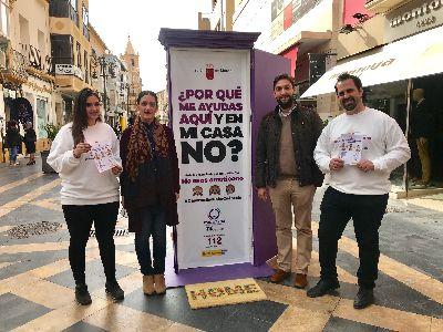 Lorca recibe la campaña de sensibilización contra la violencia de género ''No seas emoticono'' lanzada por el Gobierno Regional para concienciar a la población