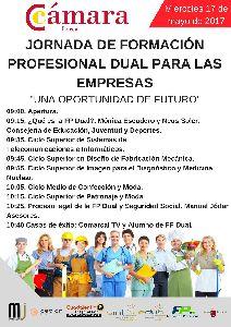 La Cámara de Comercio de Lorca organiza el miércoles una Jornada de FP Dual, ''Una oportunidad de futuro'', en la que pueden participar empresas de toda la Comarca
