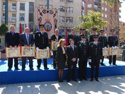 El Alcalde destaca el valor y la entrega de los agentes de la Policía Local durante los actos organizados con motivo de la festividad de su patrón, San Patricio