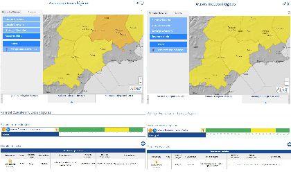 La AEMET mantiene activado el aviso amarillo por altas temperaturas este fin de semana en Lorca