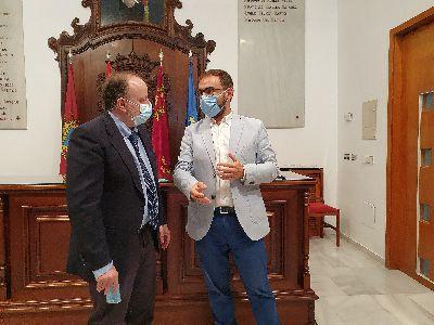 El alcalde de Lorca se reúne con Salud Pública para seguir coordinando la respuesta al repunte de casos por Covid-19