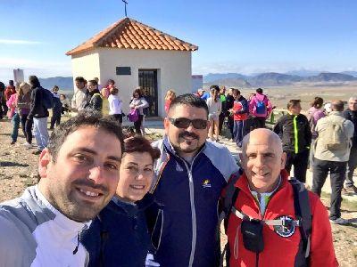 200 personas participan en las primeras rutas de senderismo y BTT del entorno de Coy señalizadas por el Ayuntamiento de Lorca y la asociación Lorca-Santiago