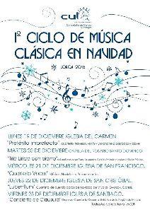 Las iglesias del Carmen, Santo Domingo, San Francisco, San Cristóbal y Santiago acogerán cinco audiciones durante esta semana dentro del I Ciclo de Música Clásica en Navidad