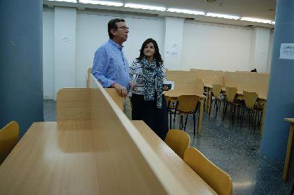 El Ayuntamiento de Lorca reabre la sala de estudio del Centro Cultural de la Ciudad tras los terremotos del 11 de mayo