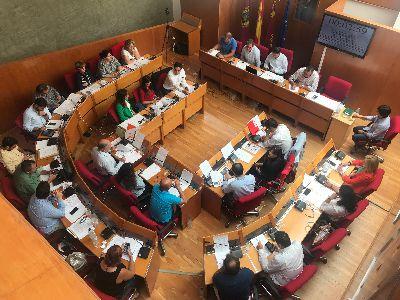 Balance de votaciones del Pleno Ordinario del Ayuntamiento de Lorca correspondiente al mes de mayo