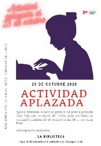 Aplazada a este viernes la actividad prevista por el 'Día de las Escritoras' debido a la lluvia