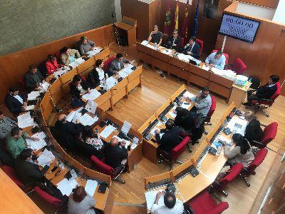 Balance de votaciones del Pleno Ordinario del Ayuntamiento de Lorca correspondiente al mes de abril