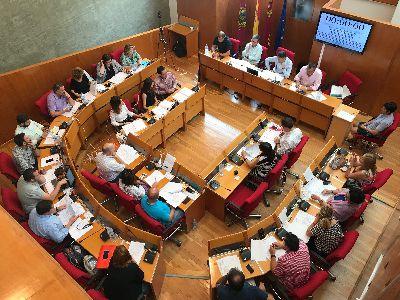 Balance de votaciones del Pleno Ordinario del Ayuntamiento de Lorca correspondiente al mes de junio