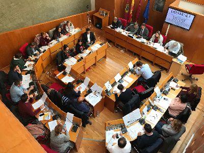 Balance de votaciones del Pleno Ordinario del Ayuntamiento de Lorca correspondiente al mes de noviembre