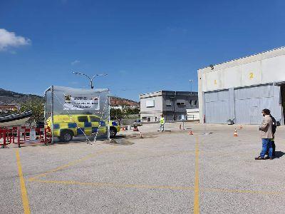 Más de 200 vehículos de emergencias, seguridad y sanitarios han pasado ya por la Estación Integral de Desinfección