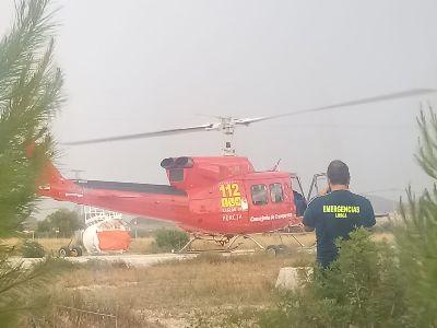 Registrados varios conatos de incendio en el noroeste de Lorca provocados por una tormenta eléctrica