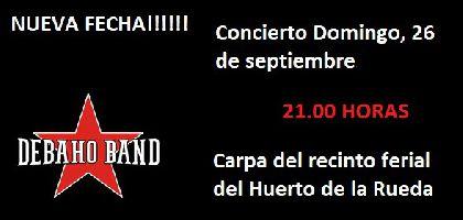 Debaho Band actuará este domingo en la carpa del Huerto de la Rueda tras la suspensión de su concierto el pasado martes por la lluvia