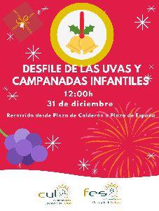 Los más pequeños podrán disfrutar del Desfile de las Uvas en la mañana de nochevieja que partirá a las 12 horas desde Calderón hasta Plaza de España