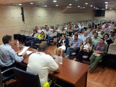 El Alcalde de Lorca informa sobre el avance en la gestión de la emergencia a las asociaciones de vecinos y alcaldes pedáneos de las zonas más afectadas por las inundaciones