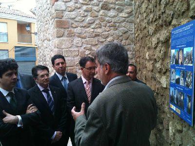 Concluidas las obras de rehabilitación del Porche de San Antonio, Torres rojano y 9 y un tramo de la muralla medieval de Lorca