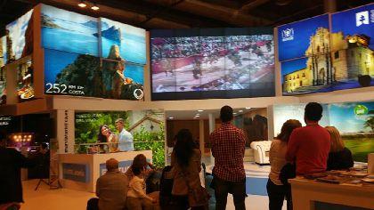 Intenso trabajo de promoción turística de la delegación lorquina en Fitur durante las jornadas abiertas a público